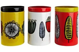 Habitat set of three Freda storage jars