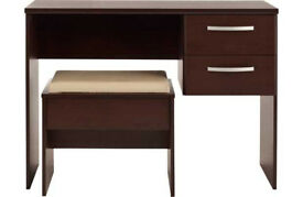 New Hallingford Dressing Table and Stool - Wenge Effect