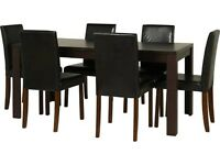 Argos Walnut Dining Table Set with 6 Chairs