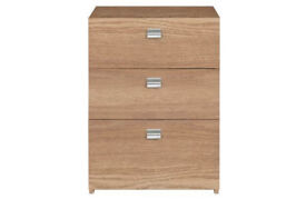 Windermere 3 Drawer Bedside Chest - Oak