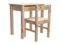 BRAND NEW SOLID PINE DESK AND CHAIR