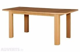 Shenley Oak Veneer Extendable Dining Table. THIS ITEM IS BRAND NEW