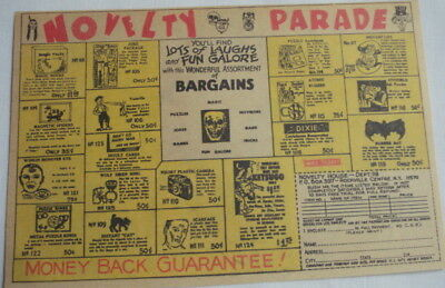 1968 Ad Novelty Parade Tricks and Gags