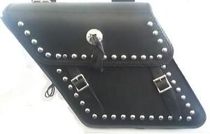 ProTech Leather Studded Saddlebags