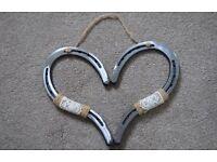 Wedding horseshoe heart