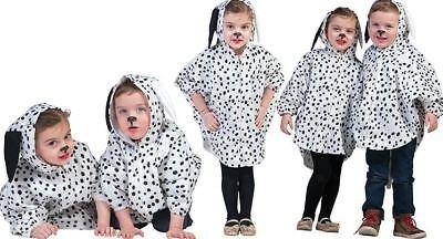 EDEL-DALMATINER-Kostüm CAPE WEISS 98-104-110-116-122 Hund Hündchen PLÜSCH weich (Dalmatiner Kostüm Kostüm)