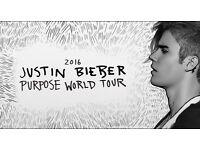x4 Justin Bieber Tickets - O2 Arena - £120pt