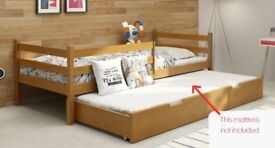 Childs Bed with rollout storage - Brand new