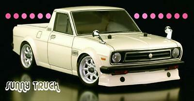 1/12 RC Body Shell  NISSAN DATSUN 1200 SUNNY PICK UP TRUCK W/ Light Buckets  (Rc Truck Shell)