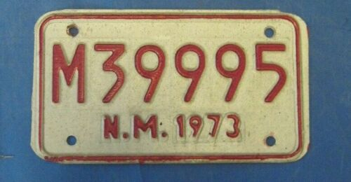 1973 New Mexico motorcycle license plate