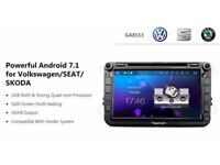 "Eonon GA8153 SKODA Android 7.1 Car Audio 2GB-RAM Quad-Core GPS Built-in Bluetooth Fender 8"" HD"