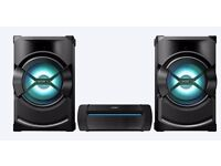 a brand new a sony shake x3d sound system 2400 watts only been used a few times