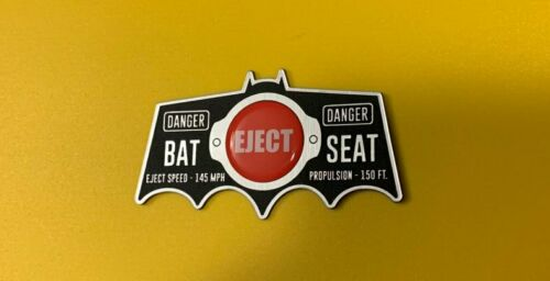 CUSTOM BATMOBILE EJECTION SEAT BUTTON CAR PLATE PROP 1966 BATMAN