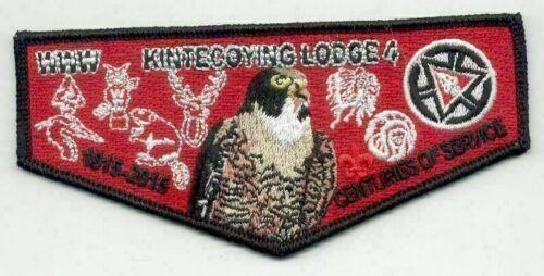 Boy Scout OA 4 Kintecoving 100th Anniversary 2015 Centennial Flap