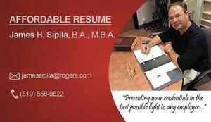 AFFORDABLE RESUME SERVICE: Serving London & area. London Ontario image 1