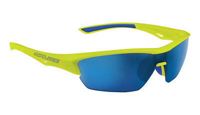 62fa523ddd1c SALICE 011 Sport Sunglasses Yellow / Blue includes case and extra clear lens
