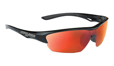 ab4c4015491 SALICE 011 Sport Sunglasses Black   Red includes case and extra clear lens