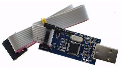 USBASP USB ISP Programmer AVR ATMEL ATMega8 Download Pin IDC Cable 3.3V 5V UK (Avr 8 Pin)