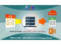 ATS OST to PST Converter with Export & import into office365 & Exchange Server