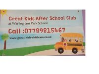 Childcare assistant /School run for After School Club