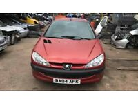 BREAKING Peugeot 206 Style 1.1 Red door bumper wing window glass front rear offside nearside