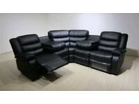 Brand New Leather Corner Recliner Delivered Packaged