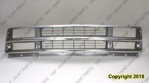 Grille Chrome/Silver (Composite) Chevrolet Express Van 1996-2002