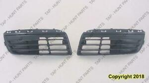 Grille Lower Passenger Side Without Fog Light Hole Volkswagen Jetta 2005-2010