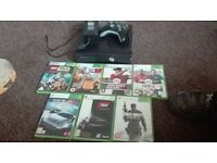 xbox 360 slim 250gb with 7 games and wireless controller perfect working order and condition