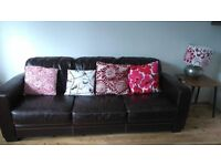VINTAGE STYLE 3 SEATER LEATHER SOFA NORWICH NR2