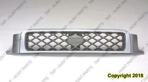 Grille Se Model Chrome/Silver/Charcoal With Chrome Moulding Nissan PATHFINDER 1999-2001