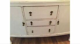 Vintage Shabby Chic Solid Oak Sideboard