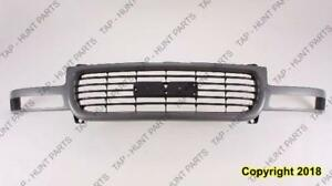 Grille Black With Silver Ptm Gmc Only  GMC Yukon XL 2000-2005