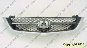 Grille Assembly Matt Black Acura TL 2002-2003