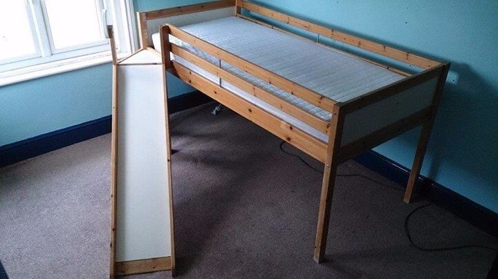 Ikea Vradal Childrens mid-sleeper cabin style bed with ...