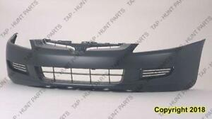 Bumper Front Primed Coupe 4-Cylinder All 6-Cylinder Automatic Transmission Without Fog Hole CAPA Honda Accord 2003-2005