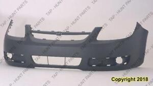 Bumper Front Ls/Lt Models With Fog Lamp Hole Has Uprer Bar In Grille Chevrolet Cobalt 2005-2010