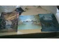 3 wall paintings/canvas