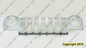Grille All Chrome Without Insert Jeep Liberty 2002-2004