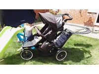 phil & ted dash double buggy with rain cover