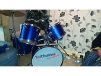 Blue fortissim Drum kit for sale