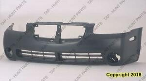 Bumper Front Primed With Fog Lamp Hole Nissan MAXIMA 2002-2003