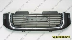 Grille Chrome/Black With Washer Hole GMC Envoy 2002-2009