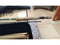 Shimano Symetre 9,6 inch Fly rod with fly reel, 2 spare spools with fly lines, landing net and Flies
