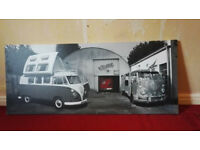 VW Campervan Canvas Style Picture