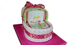 NAPPY CAKES / BABY SHOWER GIFT HAMPERS