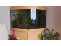Juwel Aquarium Corner Fish Tank & cabinet, Heater & Ext filter, LED