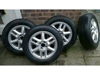 Renault scenic alloy wheels with tyres