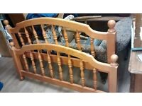 chunky pine KING size bed FRAME only