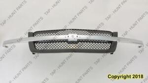 Grille With Ptm Frame/Chrome Moulding Base/Ls/Lt Model  2500/3500 Chevrolet Silverado 2003-2005